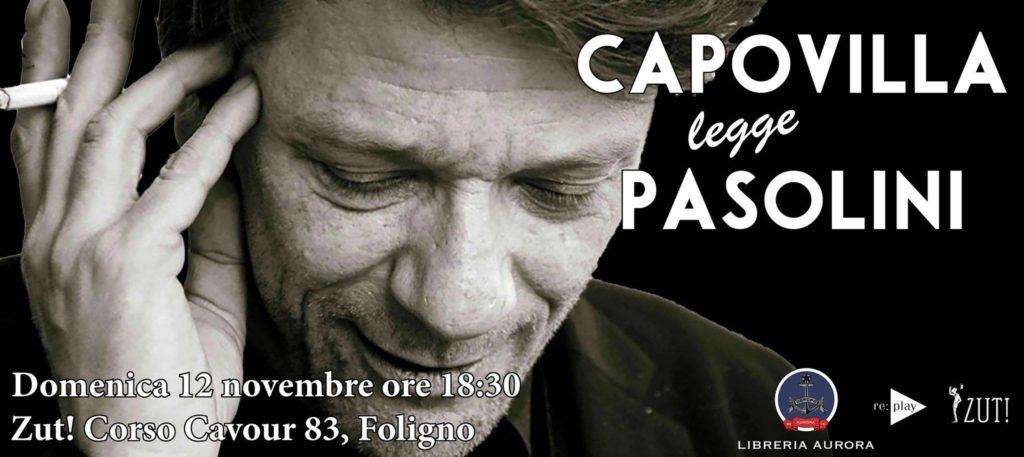 Pierpaolo Capovilla legge Pasolini allo ZUT! di Foligno
