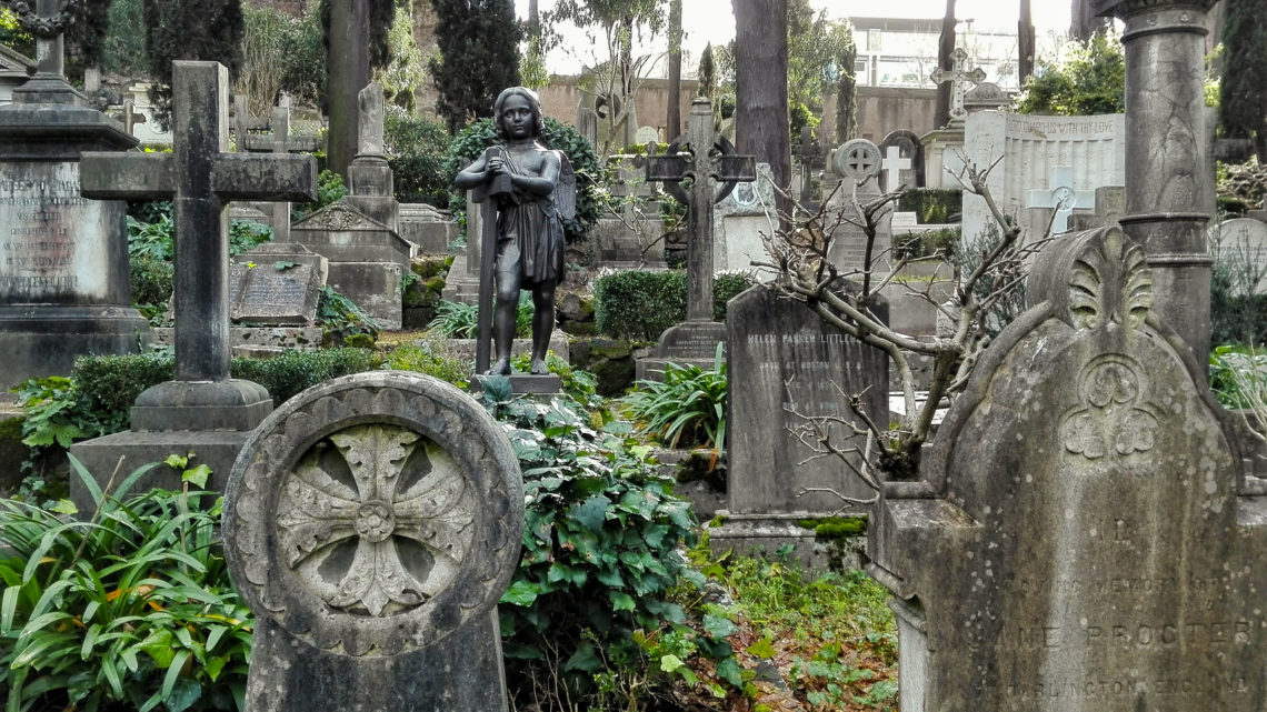 Eleuteria al cimitero degli Inglesi